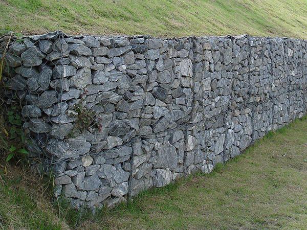 河道镀锌石笼网护坡挡墙